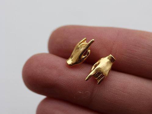 Orecchini corna in argento 925