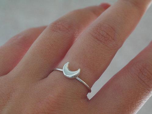 Anello luna in argento 925