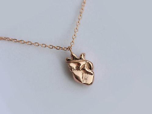 Collana cuore anatomico in argento 925