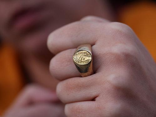 Anello sigillo con pugno in argento 925