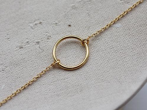 Bracciale con cerchio vuoto in argento 925