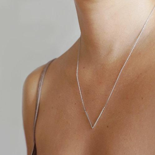 Collana a V in argento 925