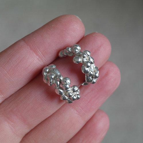Orecchini a bollicine in argento 925