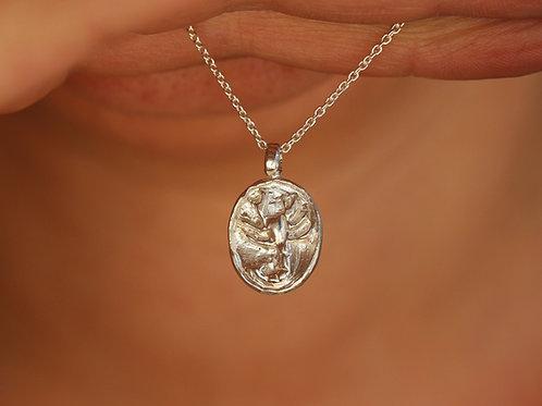 Collana segno zodiacale dello scorpione in argento 925