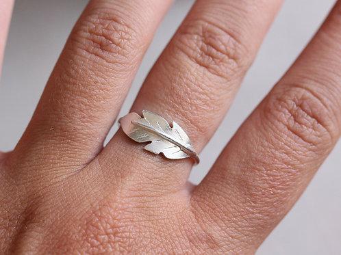 Anello piuma in argento 925