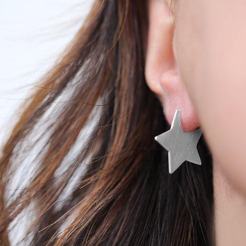 Orecchini stella big in argento 925