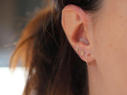 Set di tre orecchini mini in argento 925
