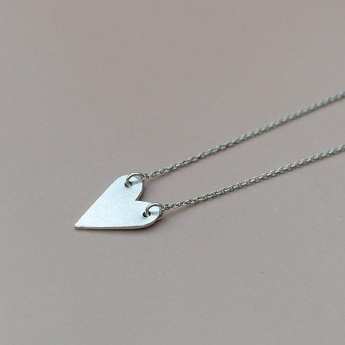 Collana cuore pieno in argento 925