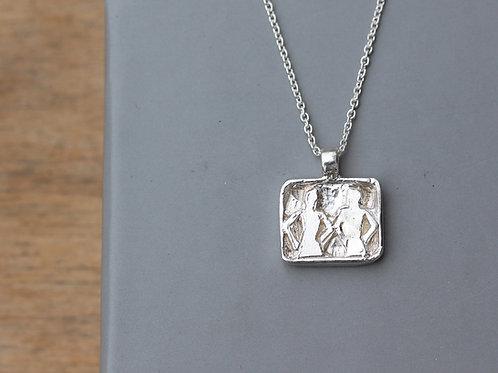 Collana segno zodiacale dei gemelli in argento 925