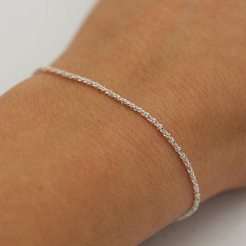 Bracciale effetto tessuto in argento 925
