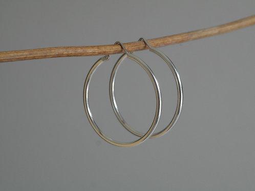 Orecchini a cerchio 35 mm in argento 925