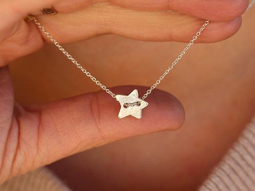 Collana stella passante in argento 925