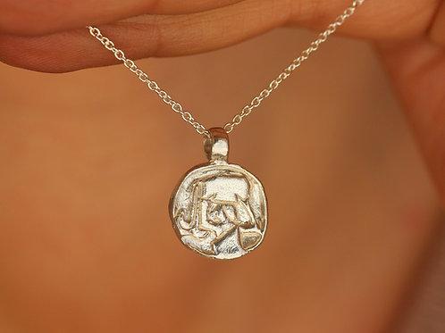 Collana segno zodiacale dell'acquario in argento 925