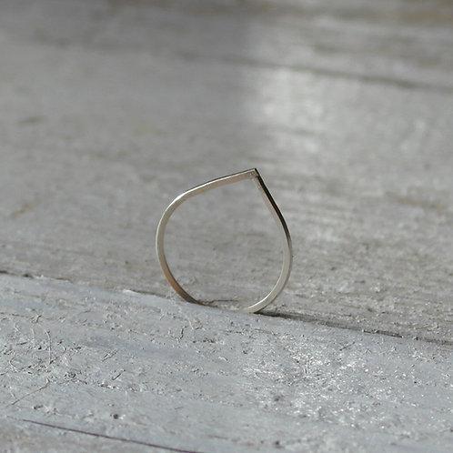 Anello a forma di goccia in argento 925