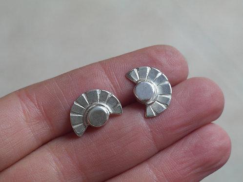 Orecchini a sole in argento 925