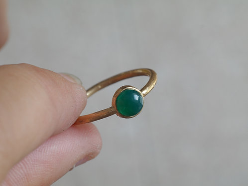 Anello con agata verde in argento 925