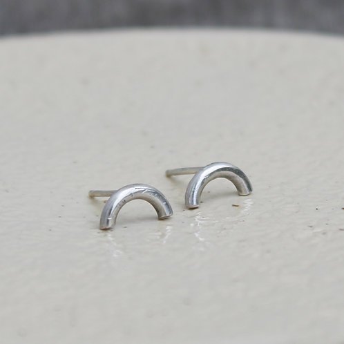 Orecchini ad arco in argento 925