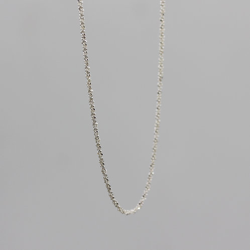 Collana effetto tessuto in argento 925