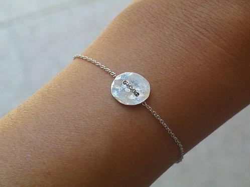 Bracciale bottone in argento 925