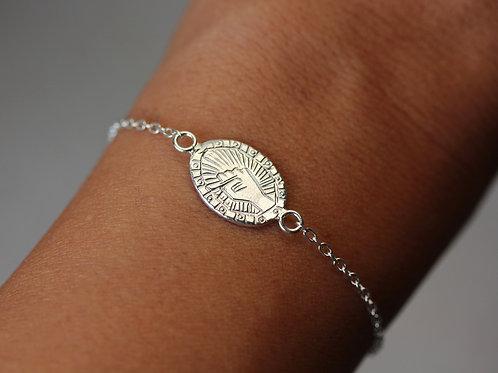 Bracciale pugno in argento 925