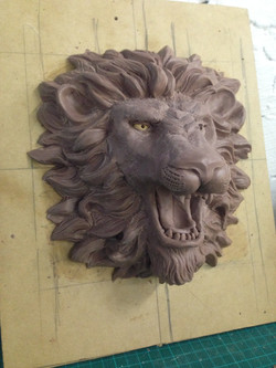 lion faucet, monster clay
