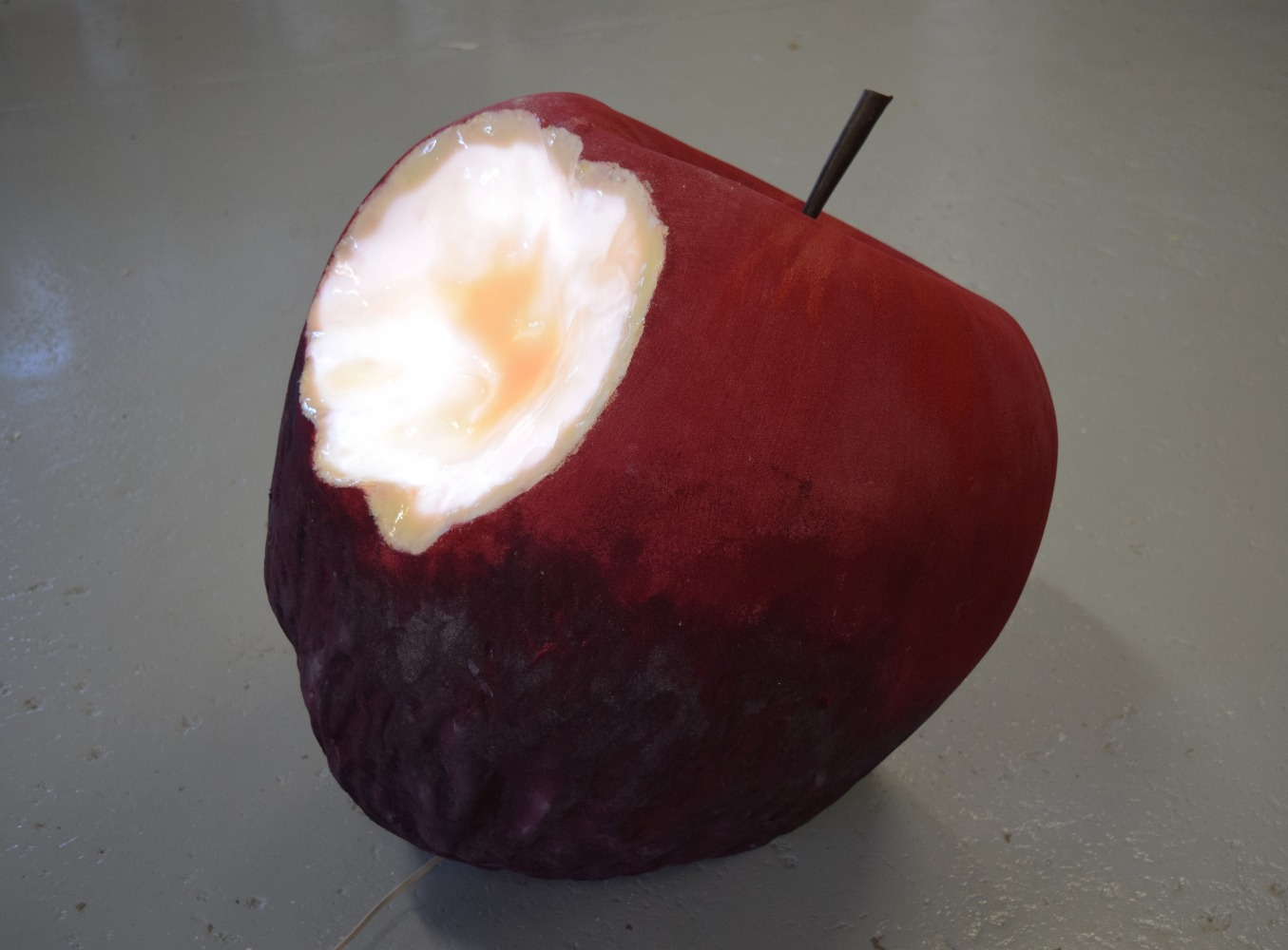 llarge 60cm apple with glowing bite
