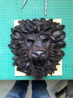 lion faucet, wax