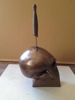 Punisher Skull - cold cast bronze