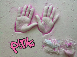 Pink hand cast