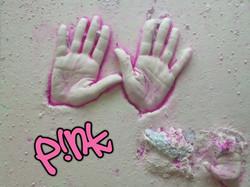 Pink hand cast