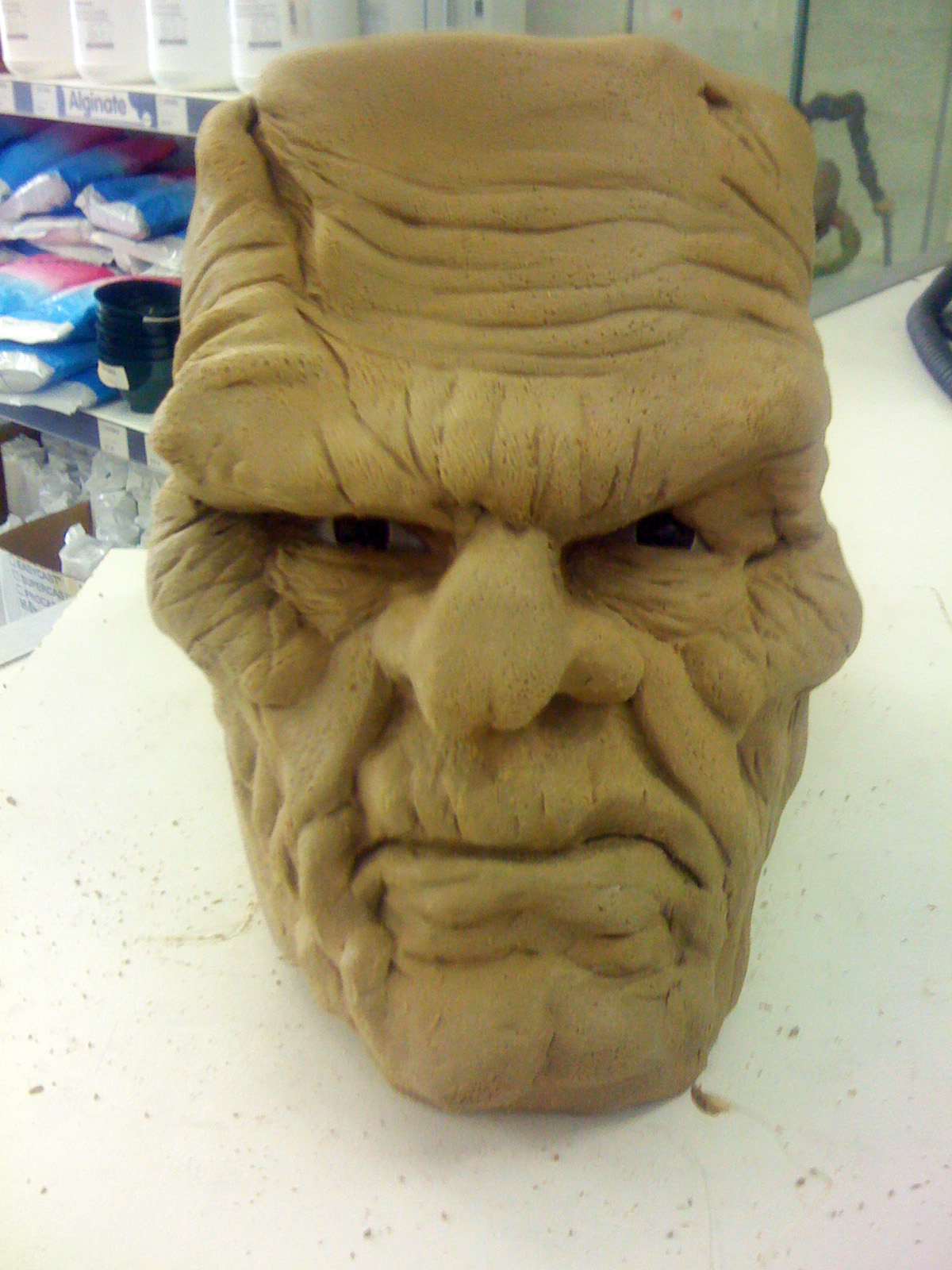 Sculpt for Frankenstein Monster Mask