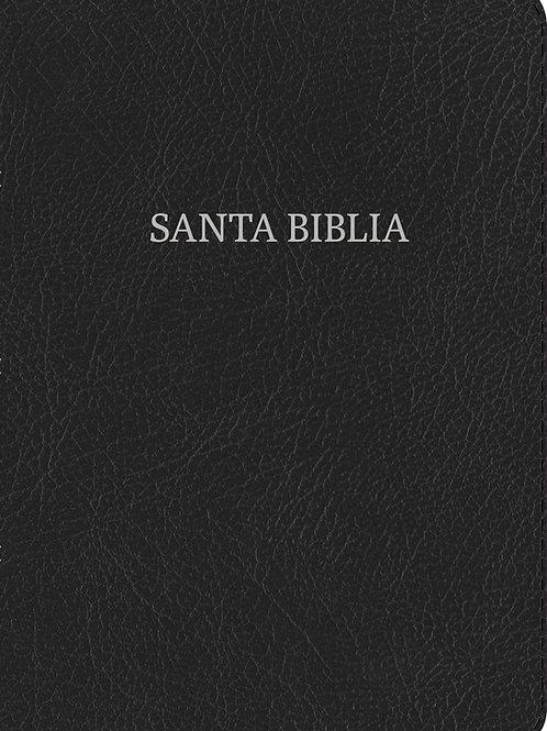 Biblia RV 1960 Compacta Letra Grande, Negro Piel Fabricada