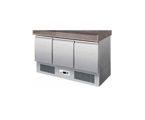Pizza pult bez nadgradnje, hlađeni, 3 vrata, granitna ploča,140x700