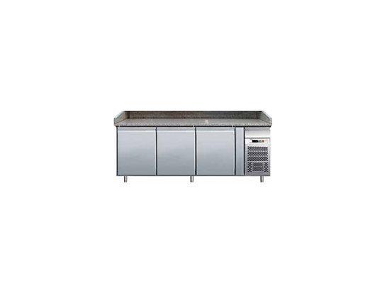 Pizza pult bez nadgradnje, hlađeni, 3 vrata, granitna ploča,2020x800