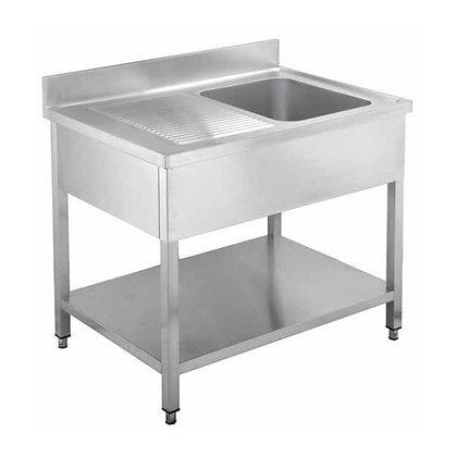 Sudoper jedno korito s ocjednom plohom lijevo 1400x600x950 mm
