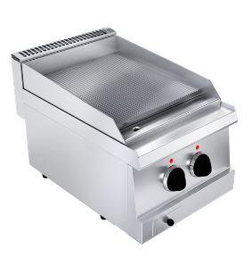 Električni roštilj rebrasta krom ploča