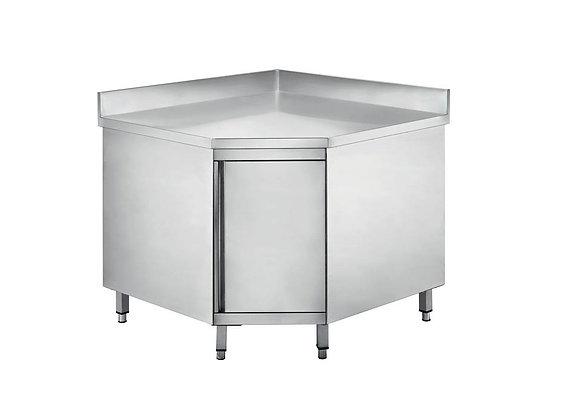 Radni stol kutni zatvoren s zaštitom zida 900x900