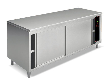 Grijani stol sa kliznim vratima, duljine 1200 mm - 1,4 kW