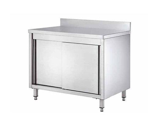 Radni stol s kliznim vratima i zaštitom zida 1000x600