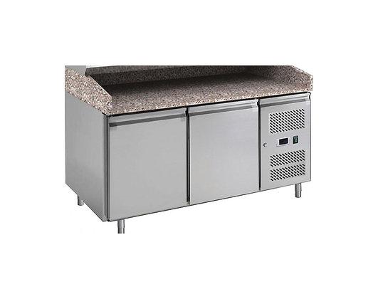 Pizza pult bez nadgradnje, hlađeni, 2 vrata, granitna ploča 1510 x 800mm