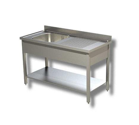 Sudoper jedno korito sa ocjednom plohom desno 140x70x85 cm