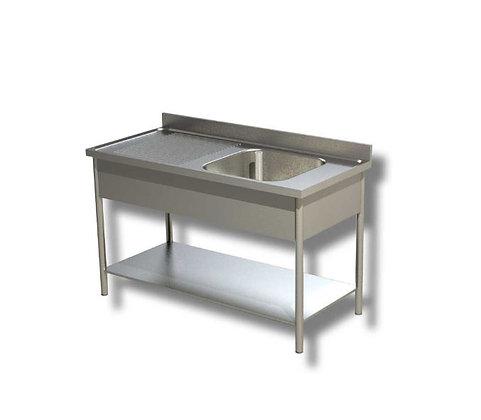 Sudoper jedno korito sa ocjednom plohom lijevo 120x60x85 cm