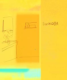 Bar KOBA バー LOGOTYPE Postcard  mitografico Drowing Hidetoshi Mito