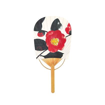 mini koban uchiwa _ camellia