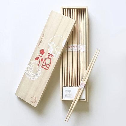 割り箸 福鶴亀
