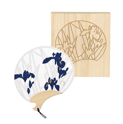 みやこ団扇 燕子花