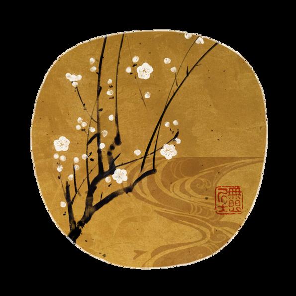 Korin _ Plum Blossoms Fan