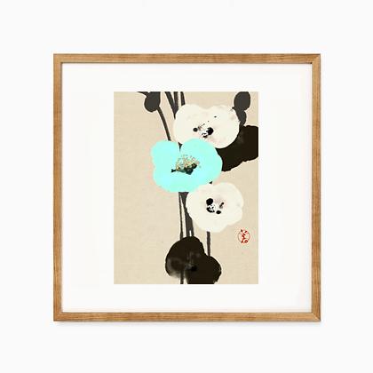 drawing print _ poppy 和紙プリント ポピー
