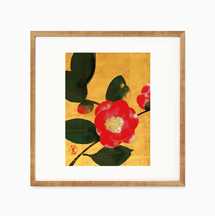 drawing print _red camellia