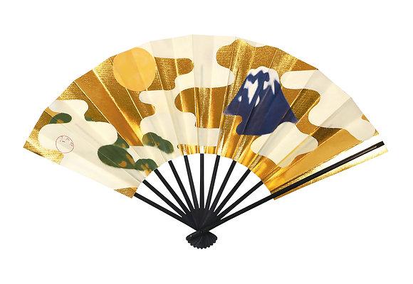 traditional sensu with paulownia box _ fuji / sakura